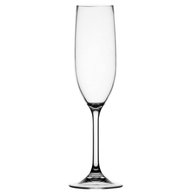 PARTY NON SLIP CHAMPAGNE FLUTE, CLEAR